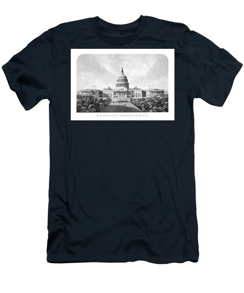 Us Capitol Building - Washington Dc Men's T-Shirt (Athletic Fit)