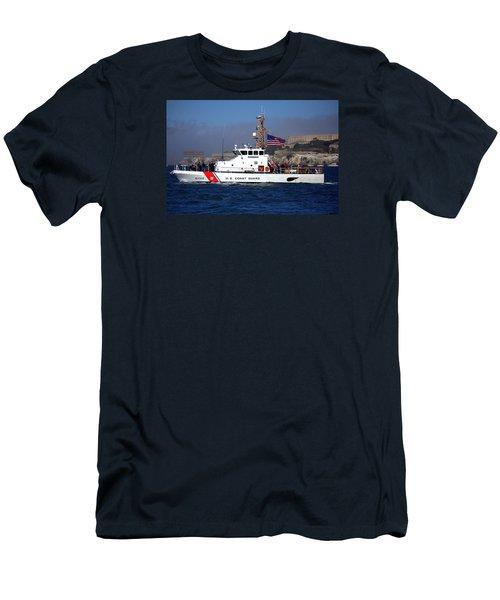 Uscg Hawksbill Patrols San Francisco Bay During Fleet Week Men's T-Shirt (Athletic Fit)