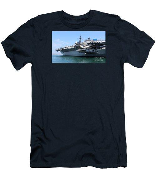 Uss Midway Carrier Men's T-Shirt (Slim Fit) by Cheryl Del Toro