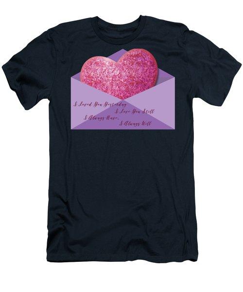 Valentine 05 Men's T-Shirt (Slim Fit) by Ericamaxine Price