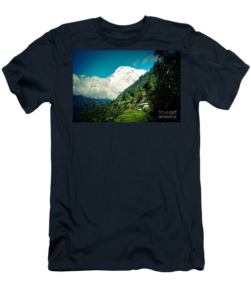 Valley Himalayas Mountain Nepal Men's T-Shirt (Athletic Fit)