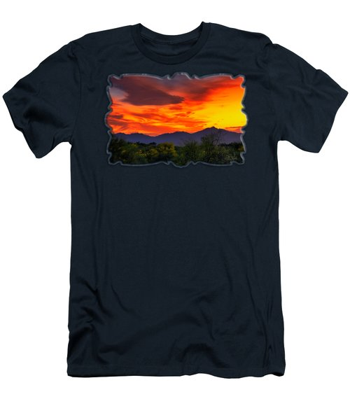 Valley Sunset H32 Men's T-Shirt (Slim Fit) by Mark Myhaver