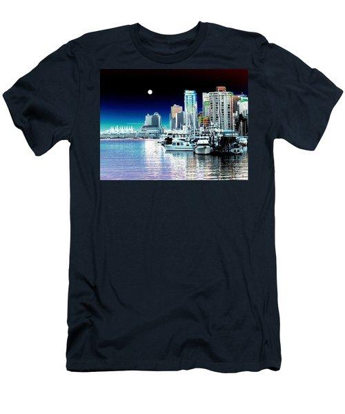 Vancouver Harbor Moonrise  Men's T-Shirt (Slim Fit)