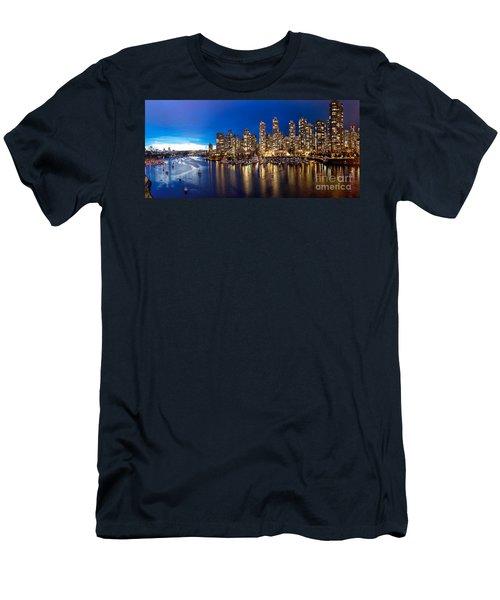 Vancouver Skyline Men's T-Shirt (Slim Fit) by Rod Jellison