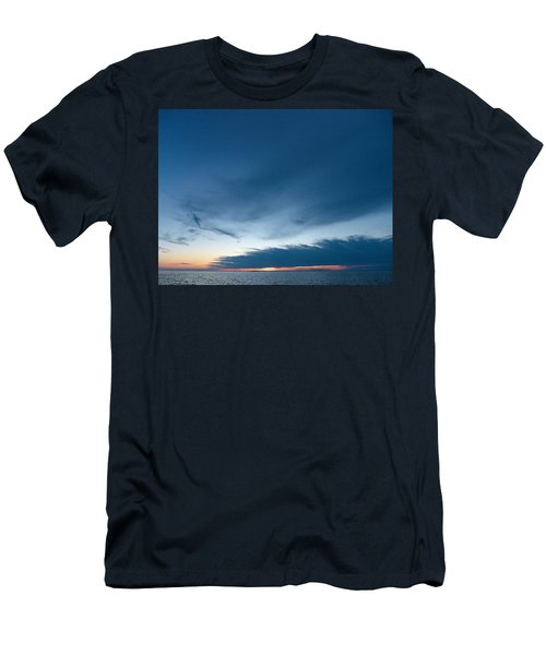 Men's T-Shirt (Slim Fit) featuring the photograph Variations Of Sunsets At Gulf Of Bothnia 4 by Jouko Lehto