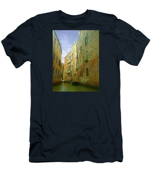 Men's T-Shirt (Athletic Fit) featuring the photograph Venetian Canyon by Anne Kotan