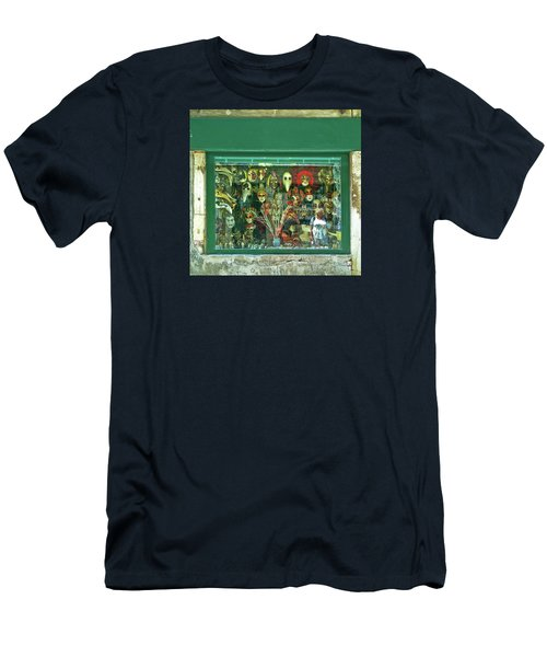 Men's T-Shirt (Athletic Fit) featuring the photograph Venetian Masks by Anne Kotan