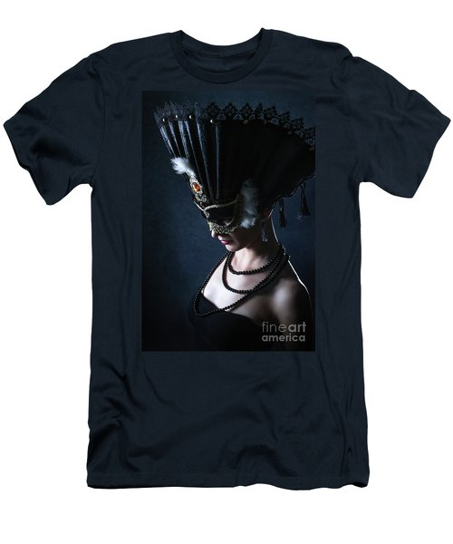 Men's T-Shirt (Athletic Fit) featuring the photograph Venice Carnival Mask by Dimitar Hristov