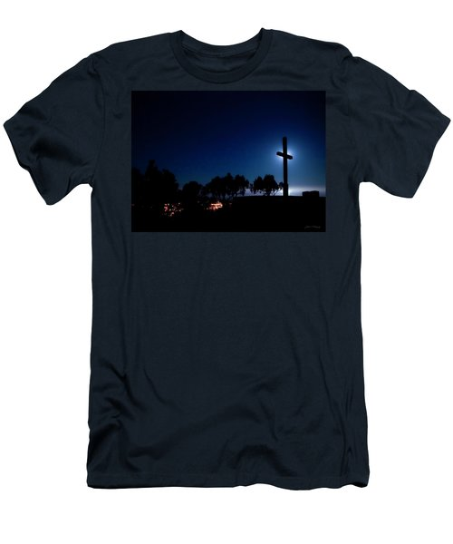 Ventura Ca Cross At Moonset Men's T-Shirt (Athletic Fit)
