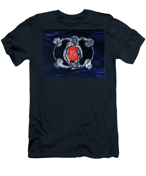 Men's T-Shirt (Athletic Fit) featuring the painting Vesica Black Suns by Rufus J Jhonson