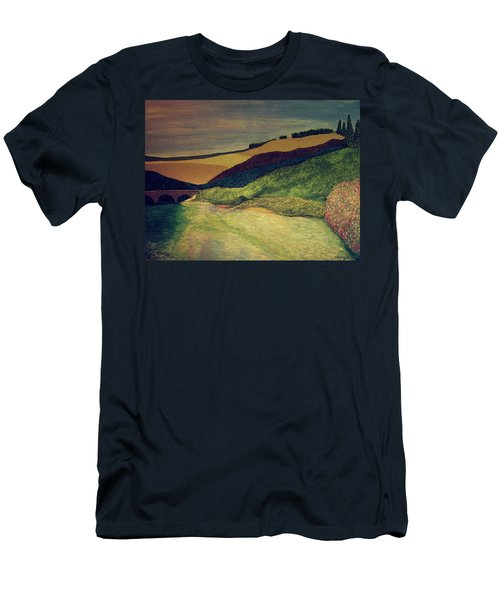 Vetheuil At Dawn Men's T-Shirt (Athletic Fit)