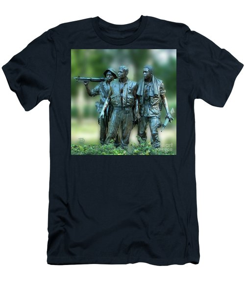 Vietnam Memorial Soldiers Men's T-Shirt (Athletic Fit)