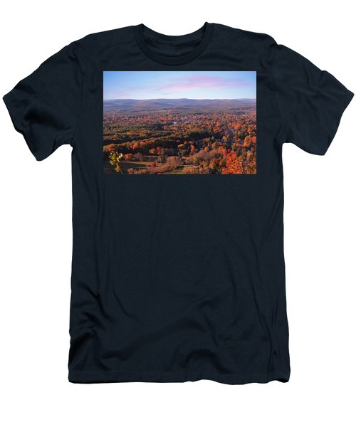 View From Mount Tom In Easthampton, Ma Men's T-Shirt (Athletic Fit)