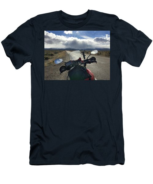 View From My Handlebars On The Road To Hiawatha Men's T-Shirt (Athletic Fit)