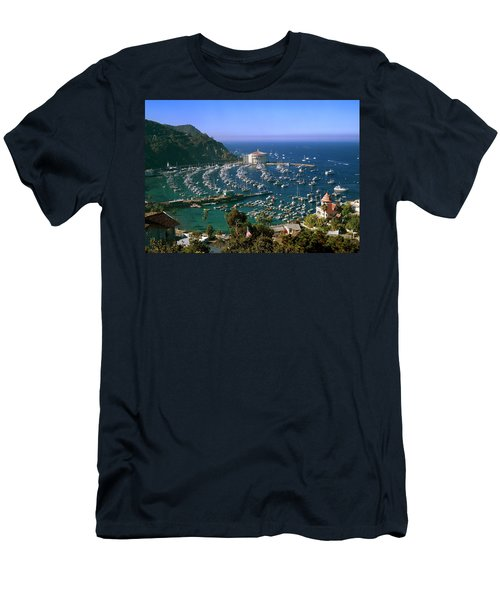 View Of Avalon Harbor Men's T-Shirt (Athletic Fit)