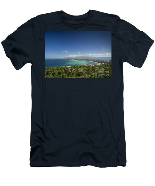 View Of Boracay Island Tropical Coastline In Philippines Men's T-Shirt (Athletic Fit)
