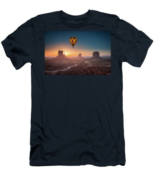 Viewing Sunrise At Monument Valley Men's T-Shirt (Athletic Fit)