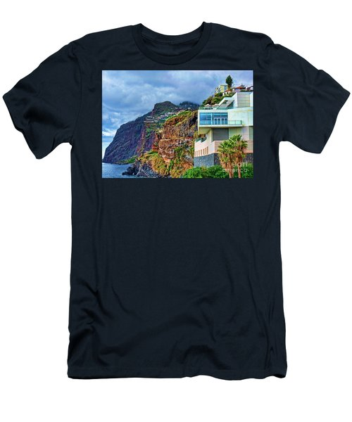 Viewpoint Over Camara De Lobos Madeira Portugal Men's T-Shirt (Athletic Fit)