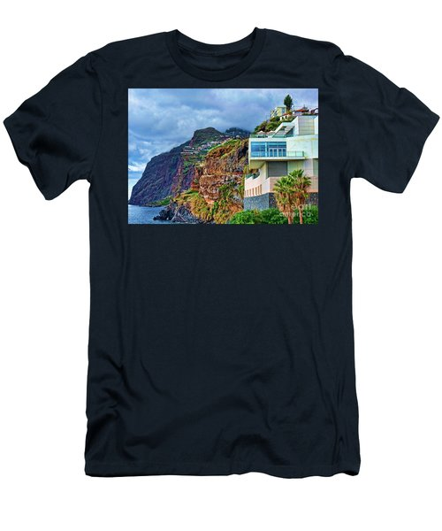 Viewpoint Over Camara De Lobos Madeira Portugal Men's T-Shirt (Athletic Fit)