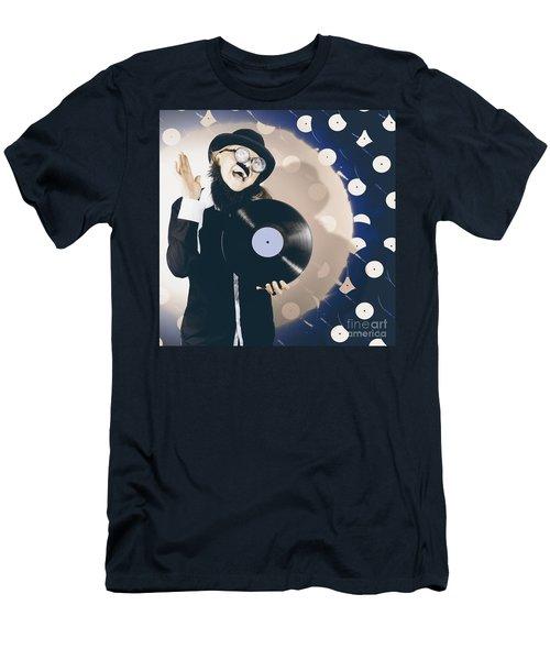 Vintage Dj Bringing Back The Retro Beat Men's T-Shirt (Athletic Fit)