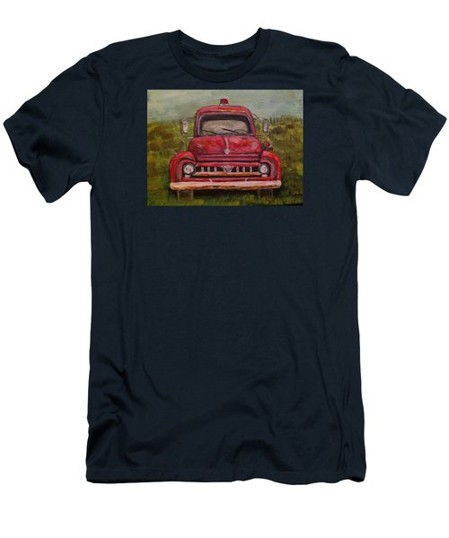 Vintage  Ford Fire Truck Men's T-Shirt (Athletic Fit)