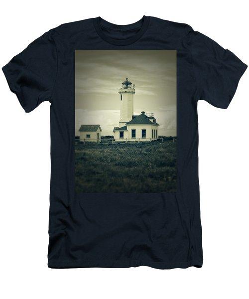 Vintage Lighthouse Monochrome Men's T-Shirt (Athletic Fit)