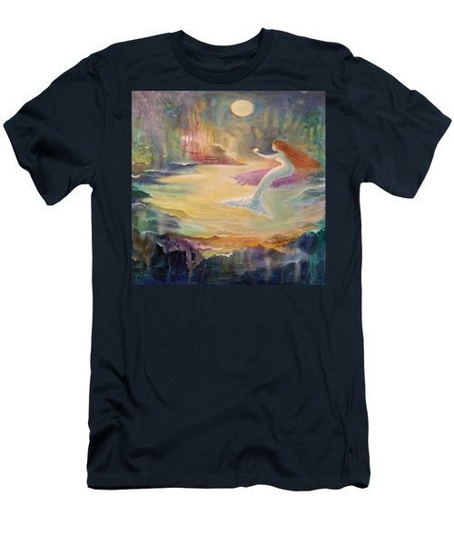 Vintage Mermaid Men's T-Shirt (Slim Fit) by Lily Nava