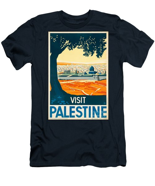 Vintage Palestine Travel Poster Men's T-Shirt (Athletic Fit)