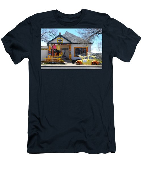 Vintage Vw Beetle At Seligman Antiques, Historic Route 66 Men's T-Shirt (Athletic Fit)