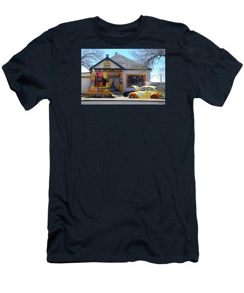 Vintage Vw Beetle At Seligman Antiques, Historic Route 66 Men's T-Shirt (Athletic Fit)