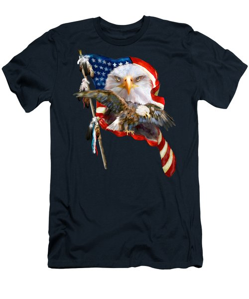 Vision Of Freedom Men's T-Shirt (Slim Fit) by Carol Cavalaris