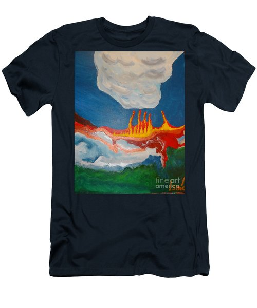 Men's T-Shirt (Athletic Fit) featuring the painting Volcanic Action by Rod Ismay
