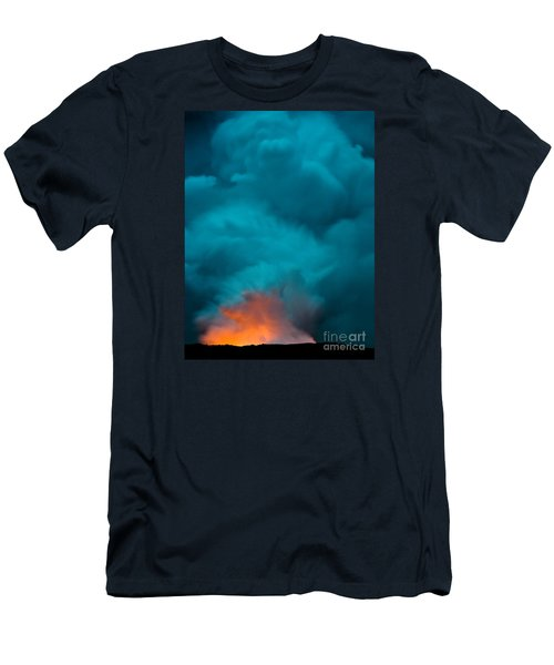 Volcano Smoke And Fire Men's T-Shirt (Athletic Fit)