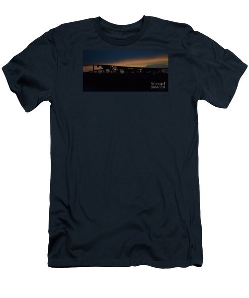 Wagon Train Slihoutte Men's T-Shirt (Slim Fit) by Mark McReynolds
