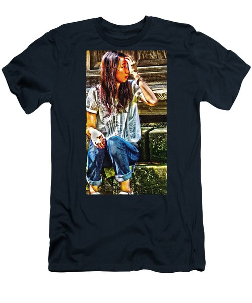 Men's T-Shirt (Slim Fit) featuring the digital art Waitng For You by Tim Ernst