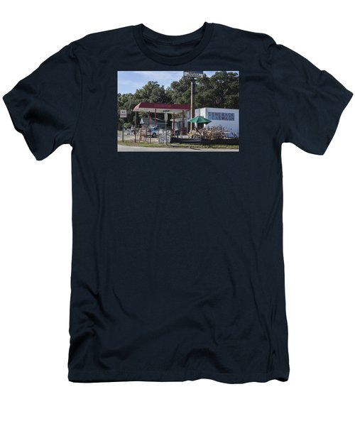Walking Canes And Staffs At The Comeback Carwash Men's T-Shirt (Slim Fit) by Suzanne Gaff