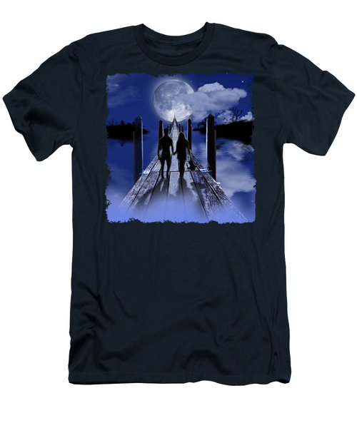 Walking To The Moon Men's T-Shirt (Athletic Fit)