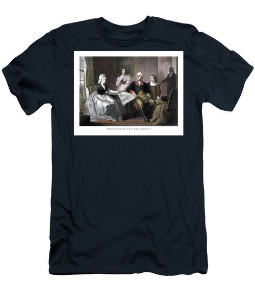 Washington And His Family Men's T-Shirt (Athletic Fit)