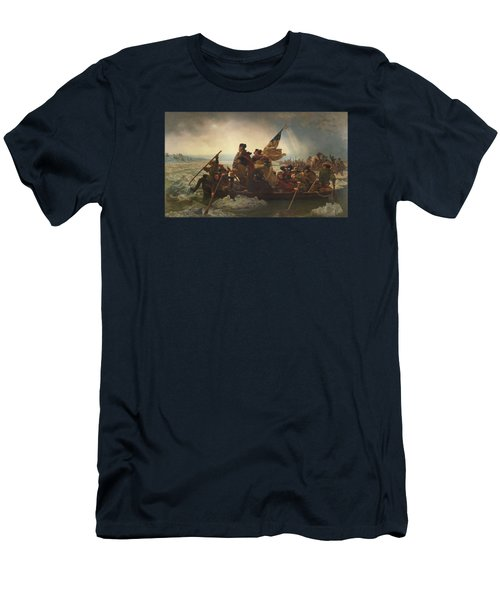 Washington Crossing The Delaware Painting  Men's T-Shirt (Athletic Fit)