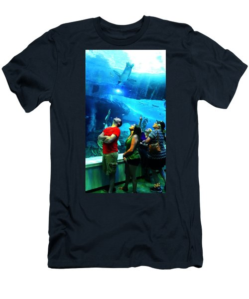 Watching The Penguins Fly Men's T-Shirt (Athletic Fit)
