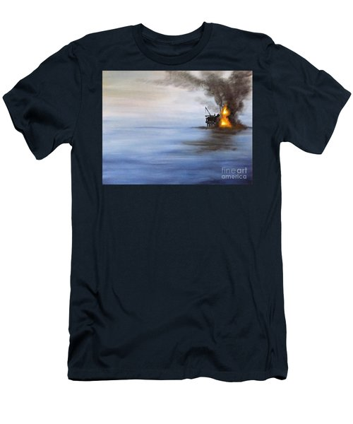 Water And Air Pollution Men's T-Shirt (Slim Fit) by Annemeet Hasidi- van der Leij