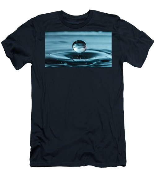 Water Drop With Milk Men's T-Shirt (Slim Fit) by Bruce Pritchett