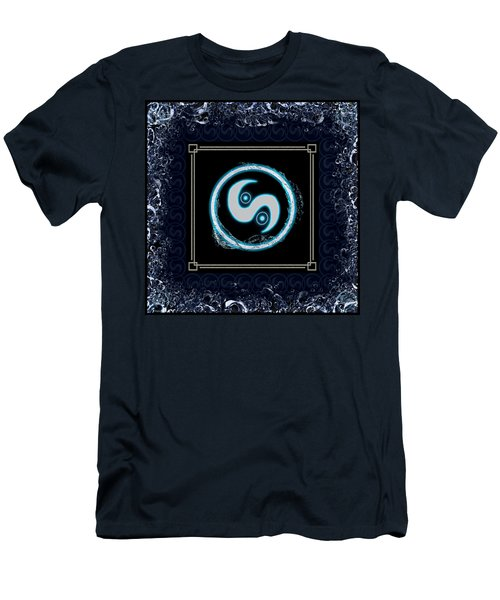 Men's T-Shirt (Athletic Fit) featuring the digital art Water Emblem Sigil by Shawn Dall