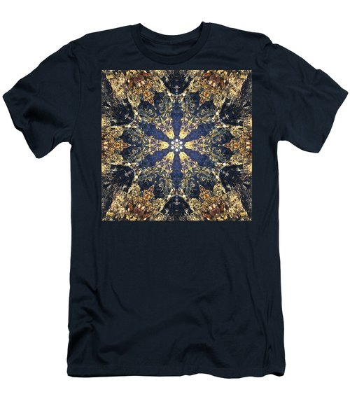 Men's T-Shirt (Athletic Fit) featuring the mixed media Water Glimmer 3 by Derek Gedney