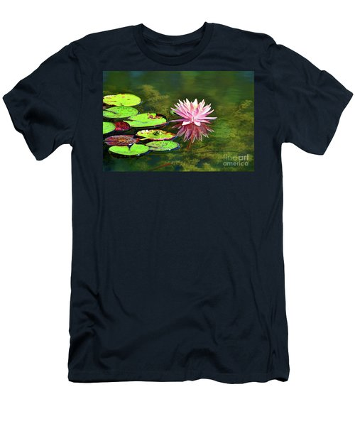 Water Lily And Frog Men's T-Shirt (Slim Fit) by Savannah Gibbs