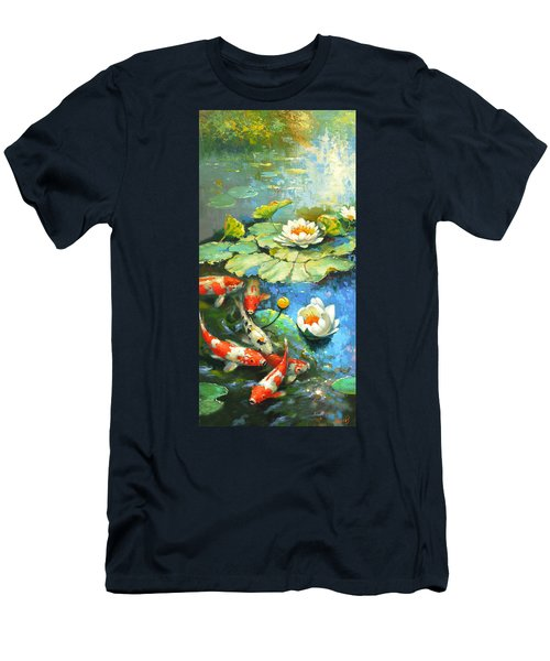 Water Lily Or Solar Pond      Men's T-Shirt (Athletic Fit)