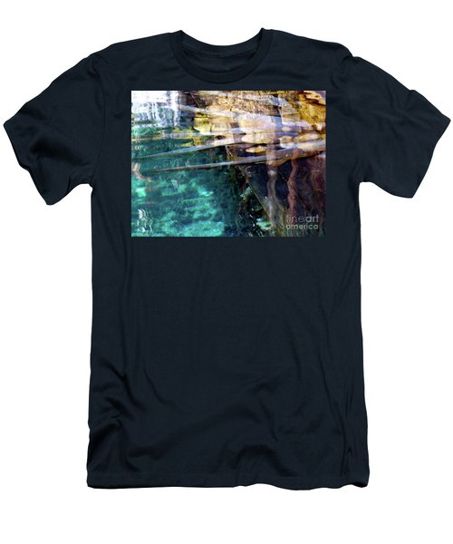 Men's T-Shirt (Athletic Fit) featuring the photograph Water Reflections by Francesca Mackenney