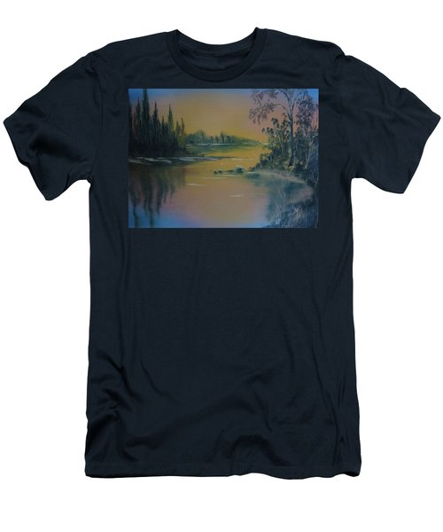 Water Scene 2a Men's T-Shirt (Athletic Fit)