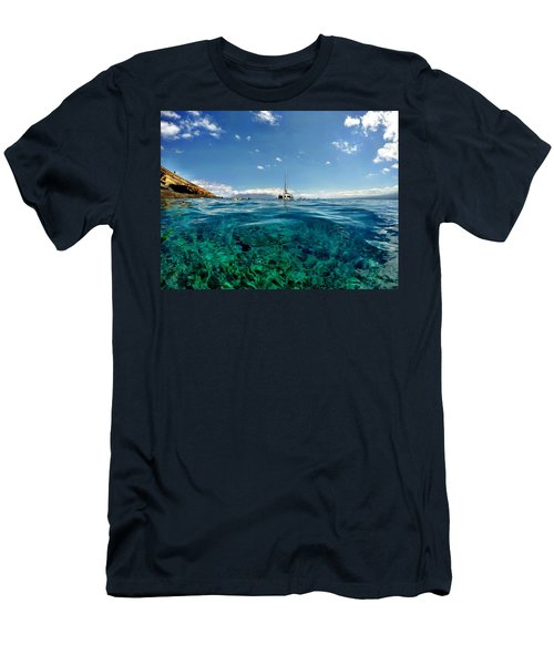 Water Shot Men's T-Shirt (Slim Fit) by Michael Albright