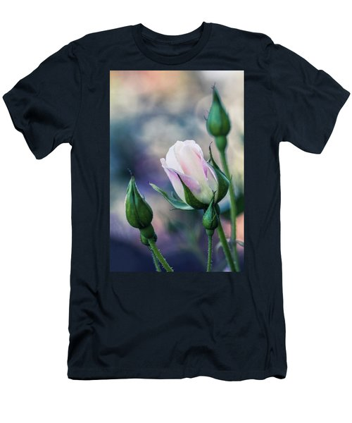 Watercolor Rose Men's T-Shirt (Athletic Fit)